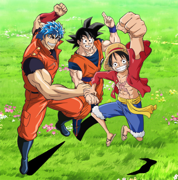 Crossover Toriko X Dragon Ball Z X One Piece