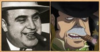 Les célébrités qui ont inspiré certains personnages d'One Piece Capone-Bege