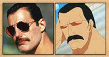 Freddie Mercury (chanteur du groupe de rock Queen) – Peeply Lulu