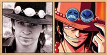 Les célébrités qui ont inspiré certains personnages d'One Piece Postgas_Ace