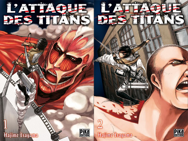 Attaque des Titans manga tomes