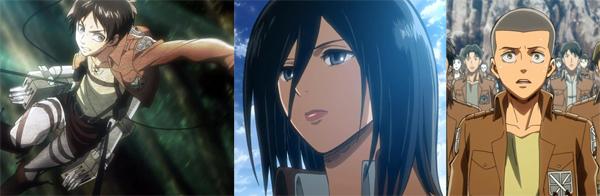 Eren Mikasa Connie