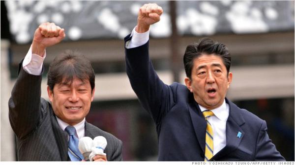 Shinzo Abe (à droite) : Premier Ministre au Japon & Président du PLD