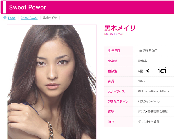 Fiche agence de la chanteuse/actrice Meisa Kuroki