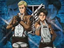 Shingeki-no-Kyojin-Rivaille-&-Erwin