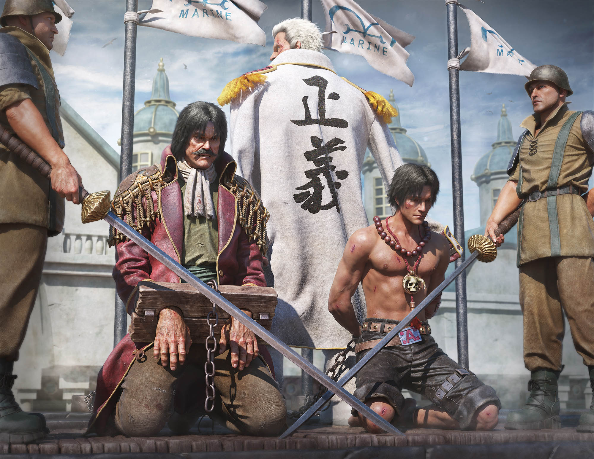 One-Piece-hommage-Gold-Roger-Ace-Garp-by