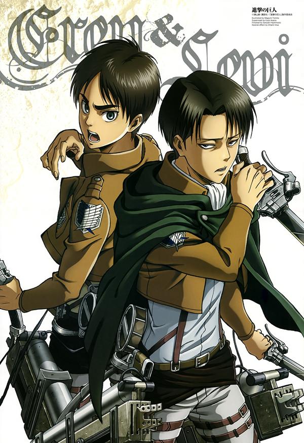 Shingeki-Eren-Rivaille-illustration-anime